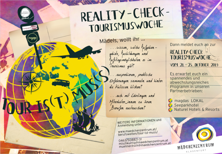 "Infoflyer ""Reality-check Tourismuswoche"" vom 21. - 25. Oktober 2019"