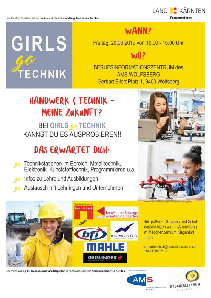 Girls Go Technik - Messe im September
